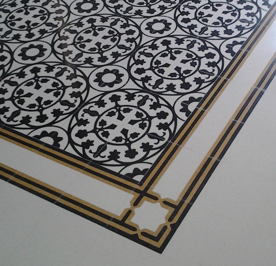 Pavimento Havana-Cuba bianco cristallo-nero intenso Levigato-Stuccato-Lucidato da Floorshop